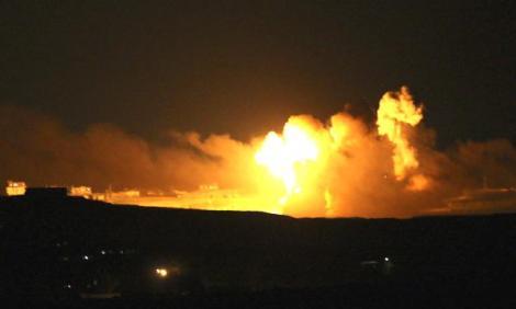 explosion-israeli-stike-gaza-reuters
