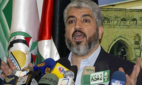 The exiled Democratically elected Hamas leader, Khaled Meshal