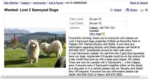 Dogs found