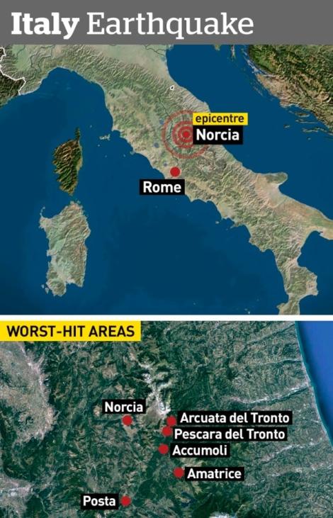 Italy Worst hit area