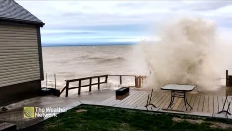 Lake Ontario flooding the weather network